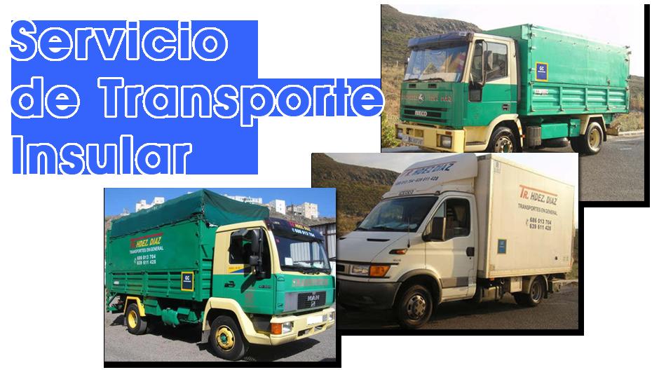 Transportes hernandez diaz servicios de transporte insular - Servicio de transporte ...